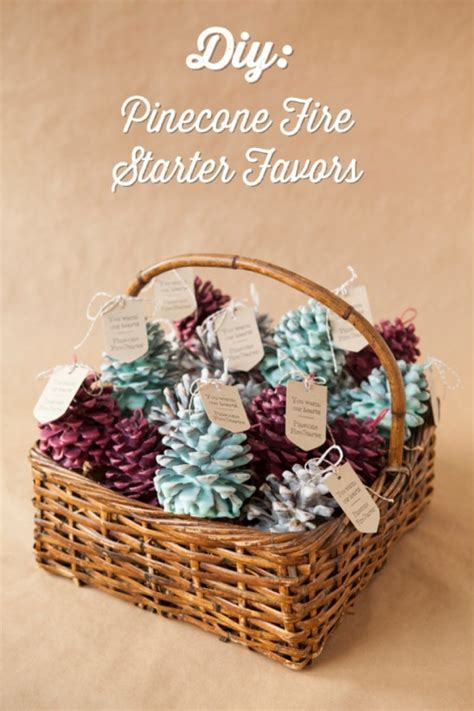 DIY Pinecone Fire Starter Favors by Jen Carreiro   Project