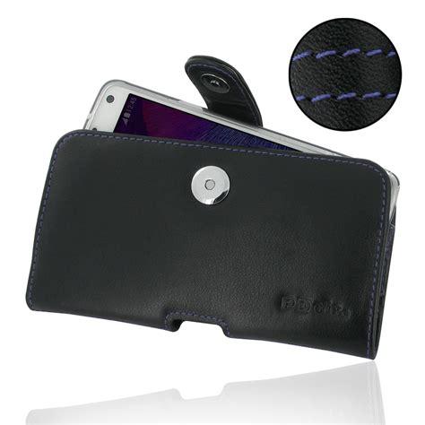 Samsung Galaxy Note 4 X Level Slim Leather Flip Soft Bumper Sarung samsung galaxy note 4 in slim cover holster orange stitch