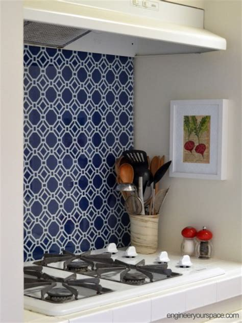 Diy Temporary Kitchen Backsplash Smart Diy Solutions For
