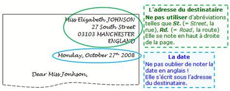 Lettre Présentation Anglais Correspondant Cours De Anglais Savoir 233 Crire Une Lettre Maxicours