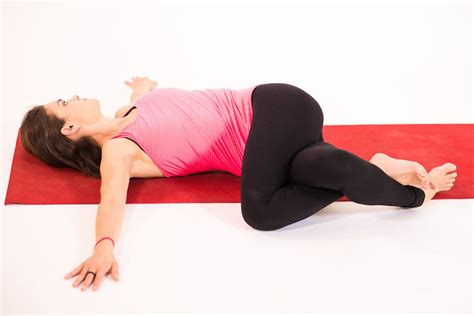 reclined spinal twist 6 yoga poses for more restful sleep