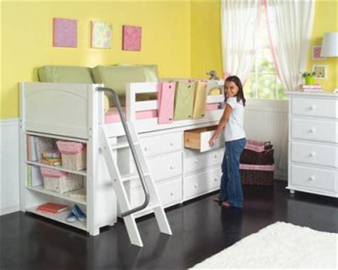 low loft bed with storage girls low loft bed w ladder storage