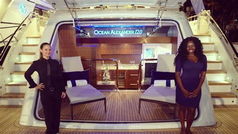 ocean alexander miami boat show exclusive tour of the 2017 ocean alexander 120 yacht at