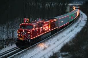 xmas train christmas landscapes