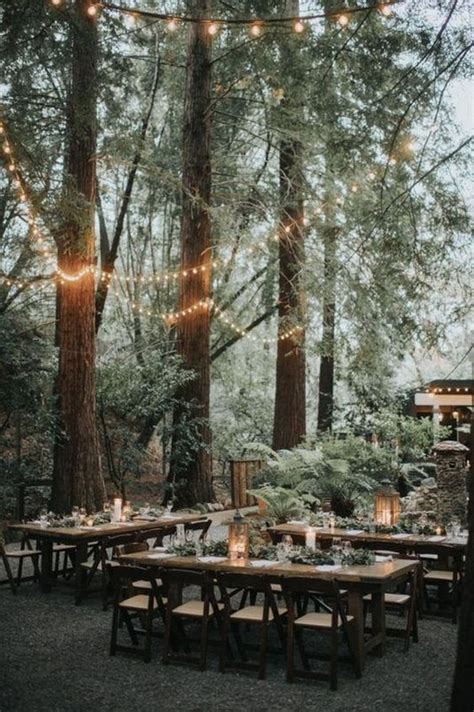 trending  enchanted woodland forest wedding reception