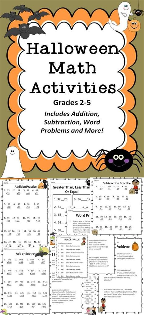 math student and halloween on pinterest middle school math halloween word problems halloween