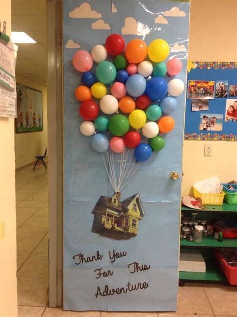 up movie disney pixar classroom door decoration