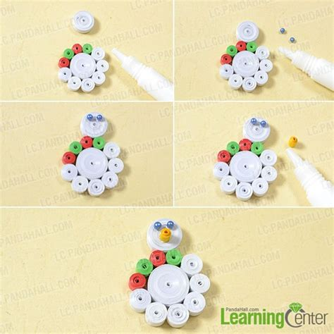 quilling snowman tutorial pandahall tutorial on how to make a christmas paper