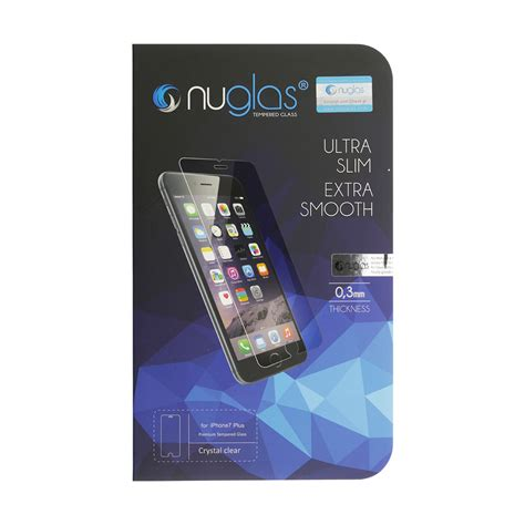 nuglas tempered glass screen protector for iphone 7 plus 2 5d fixez