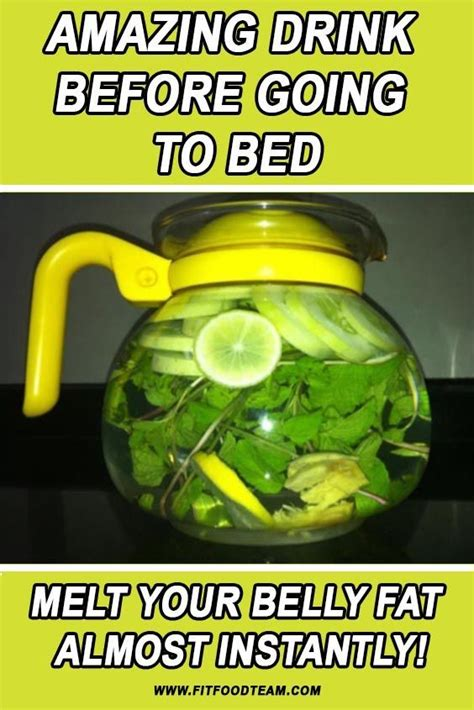 Best Detox Drink Before Bed by This Amazing Drink Before Going To Bed Will Melt Your
