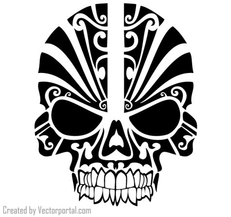 tribal decoration tattoo vector free download tribal skull tattoo design vector free vectors ui download