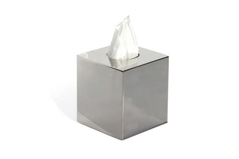 Dining Room Table Size Stainless Steel Tissue Box With Removable Base Craster