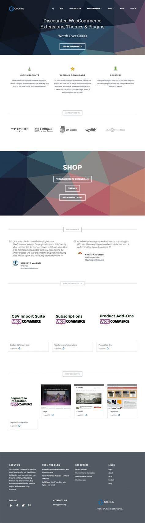 wordpress themes design inspiration gplclub premium wordpress and woocommerce themes