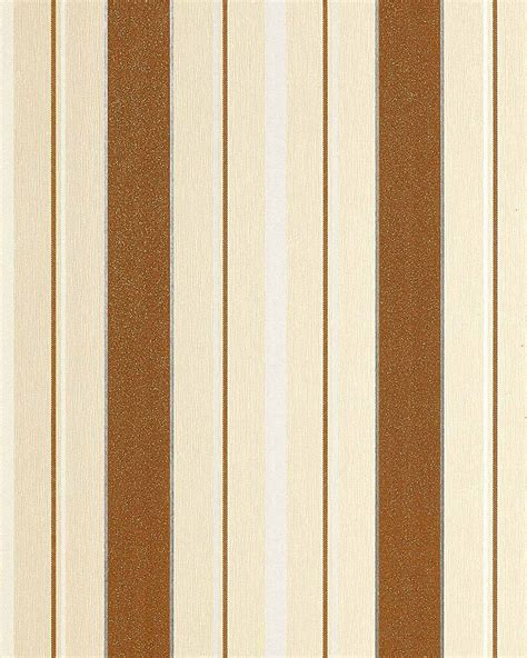 cream and brown pattern wallpaper block stripes wallpaper wall covering edem 069 21 textured