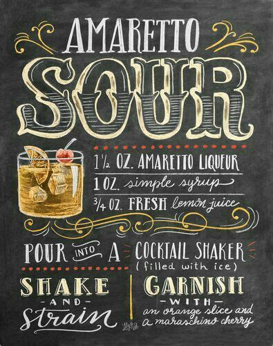 cocktail recipes poster 25 best f b chalk board images on pinterest drinks