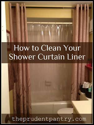 how to remove soap scum from shower curtain the prudent pantry clean your plastic shower curtain liner