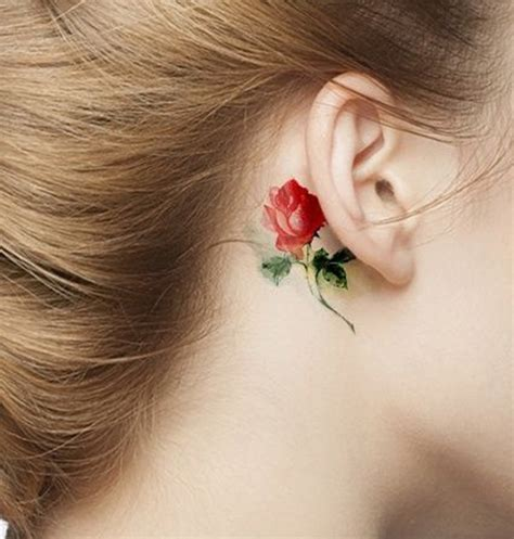 watercolor tattoo behind ear 90 watercolor tattoo ideas that turn skin into canvas