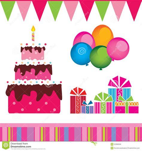 imagenes vectoriales de regalos vector de la torta de cumplea 241 os regalos ilustraci 243 n del