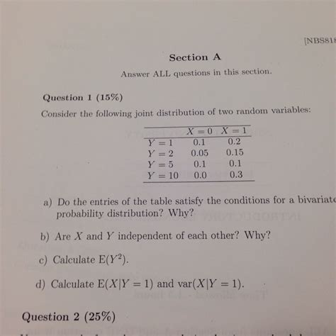 question and answer section nbs818 section a answer all questions in this sec