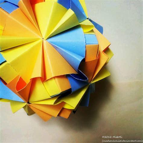 Origami Sonobe - modular origami waltz sonobe 1 by madsoulchild on deviantart