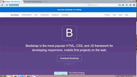 bootstrap tutorial link cakephp 3 beginner tutorial 3 link up bootstrap youtube