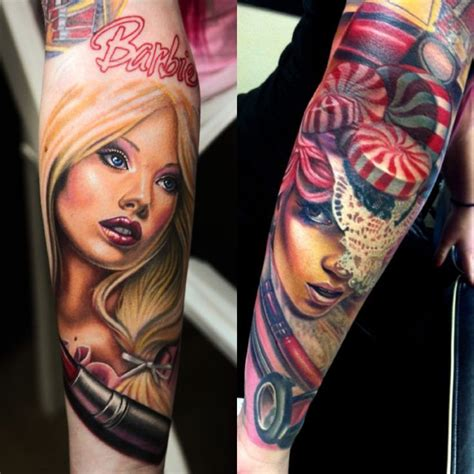barbie tattoo s tattoos makeup