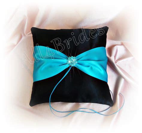 wedding ring pillow turquoise turquoise and black wedding ring bearer pillow malibu