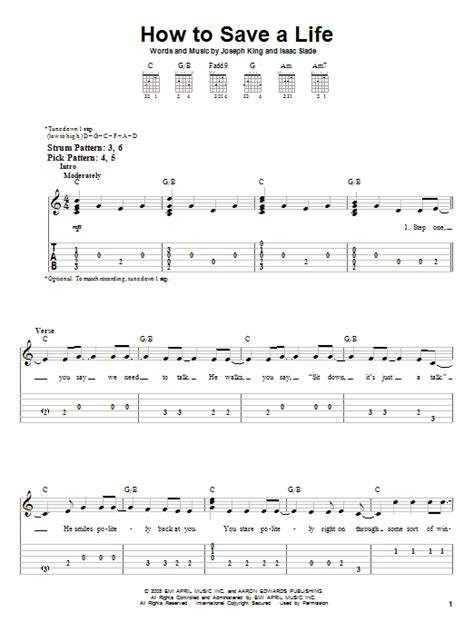 tutorial piano how to save a life how to save a life sheet music direct