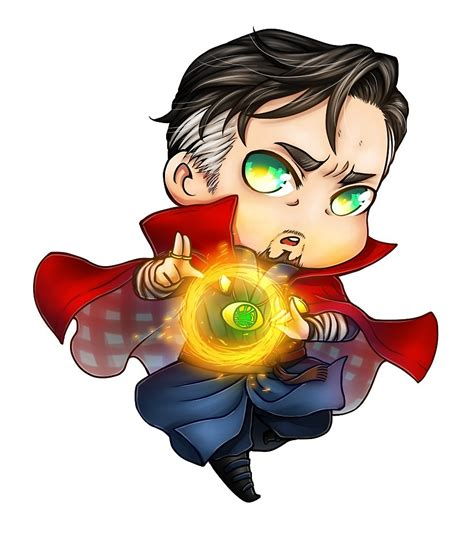 Marvel Wall Stickers quot chibi dr strange quot by damiengrimm redbubble