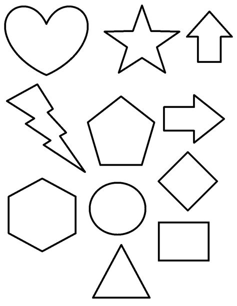 color shapes free printable shapes coloring pages for