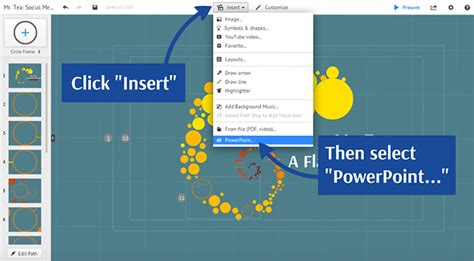 Importing From Powerpoint Prezi Classic Support Embed Prezi In Powerpoint