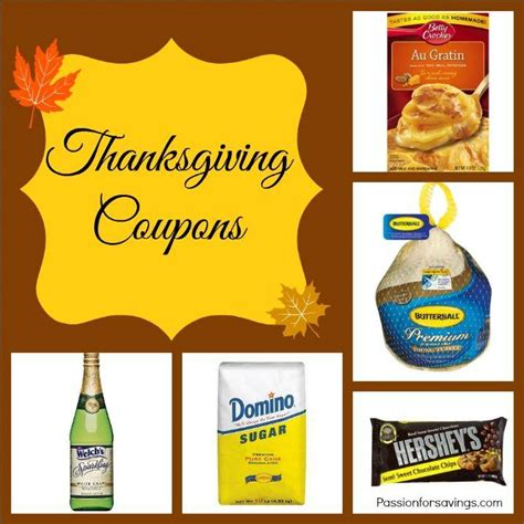 printable thanksgiving grocery coupons thanksgiving coupons turkey gravy canned pumpkin