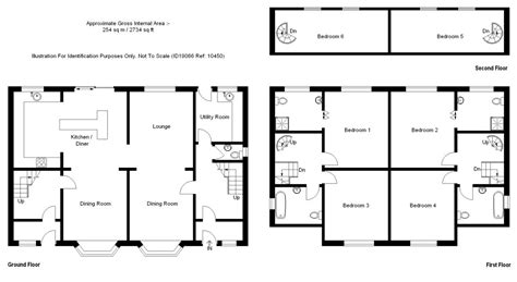 6 bedroom house plans with ground floor first floor and