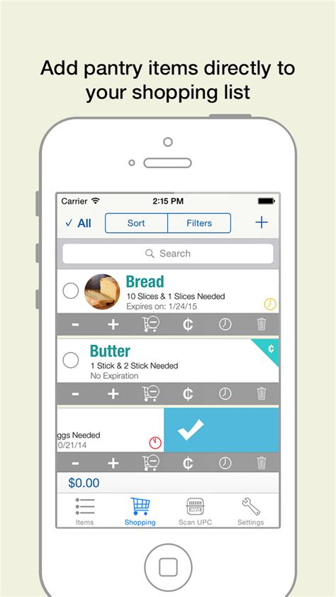 Best Pantry App by Pantry Manager Shopping List And Grocery Management Ios