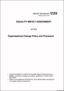 change impact assessment template change impact assessment template template update234