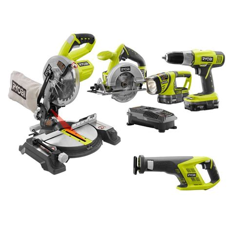 combo saw ryobi 18 volt one lithium ion cordless combo kit with