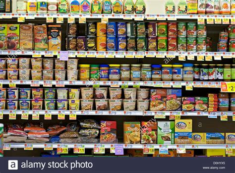 grocery store shelves organic food products on grocery store shelves stock photo