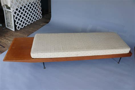long cushioned bench mid century long bench with cushion for sale at 1stdibs