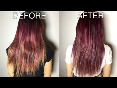 the counter purple hair toner easy diy toner for brassy orange hair youtube