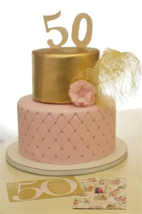 50th birthday cakes 50th birthday cake with gold and pink beautiful cakes