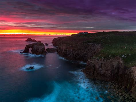 cornwall county  south west england sunset