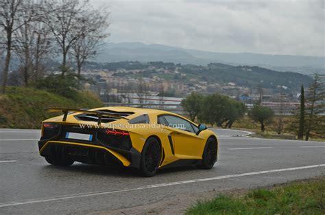 Lamborghini 750 Sv by Lamborghini Aventador Lp750 4 Sv Spotted On The Road