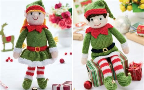 pattern for a christmas elf over 50 free knitted christmas knitting patterns