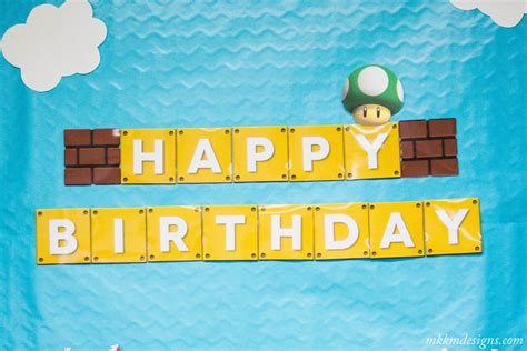 printable mario banner super mario party recap with free printables mkkm designs