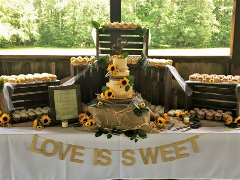 Country Wedding by Rustic Country Wedding Cake And Cupcake Display With Live
