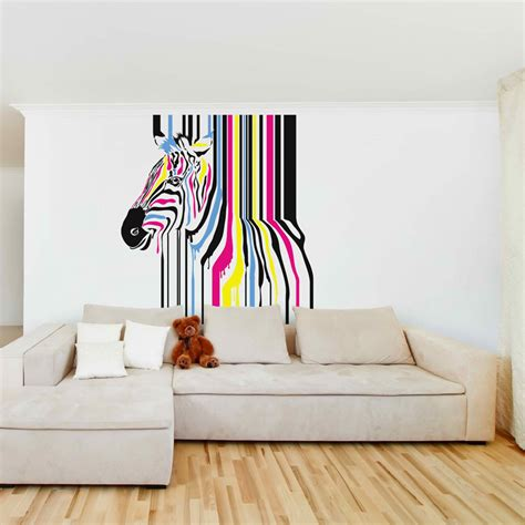 abstract wall stickers abstract paint zebra removable wall stickers and wall decals