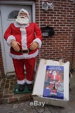 6 ft tall singing santa gemmy htf 6 6 ft animated singing st nick santa claus indoor outdoor