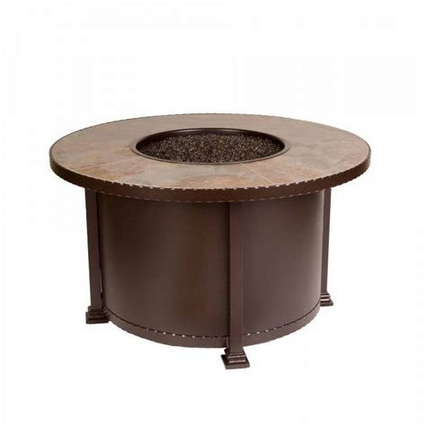 Ow Lee Casual Fireside 42 Quot Round Santorini Chat Fire Pit Ow Pit