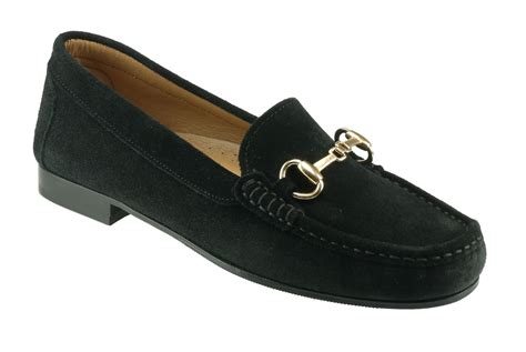 black loafers womens ortona black suede snaffle loafer
