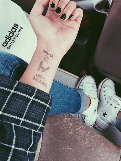 tattoo and shoes are sweet twenty one pilots